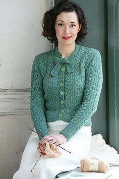 Ravelry: Tri-Cable Stitch Jumper pattern by Susan Crawford. Soft teal. You find this colour in Pure autumn, tinted autumn, shaded summer, toned summer and toned spring.