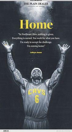 LeBron James Plain Dealer 'Home' Cover Art