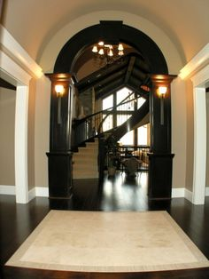 So simple. love the arched walkway