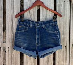 Vintage LEVI Jean Shorts  HIGH Waist  Jean Shorts  by TomieHarlene, $13.00