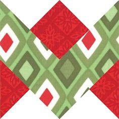 Holiday ribbon block