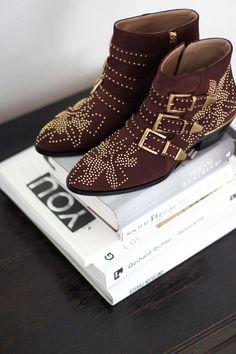 Chloé Susanna Suede Stud Boots. More on  www.thedashingrider.com Sandales  Cloutées 150cd3607f3