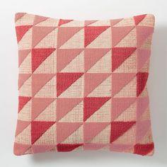 Triangle Geo Pillow Cover - Poppy   west elm