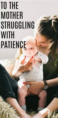 If you're a mom struggling with patience, you're not alone. Motherhood is difficult and taxing, and will test your patience in ways you never thought possible. But, the beauty is that we are all learning and growing. #positiveparenting #motherhood #parenting #parenthood #patience #quotes #momlife Co Parenting, Therapy, Baby, Coparenting, Babys, Infant, Doll, Infants, Child