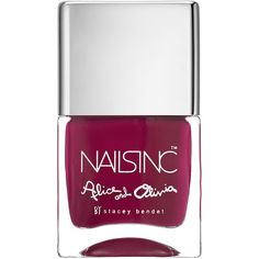 Nails inc Alice & Olivia Nail Polish, Rosé And Poetry 0.47 oz (14 ml) ($15) ❤ liked on Polyvore featuring beauty products, nail care, nail polish, nails inc. and nails inc nail polish