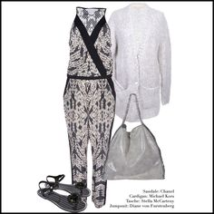 NEW ARRIVAL Jumpsuit + Tasche: #StellaMcCartney  Sandalette: #Chanel  Cardigan: #MichaelKors   #MyMint   #Vintage   #Fashion