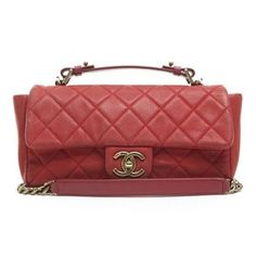 Chanel Red Caviar Chic Iridescent Flap Bag