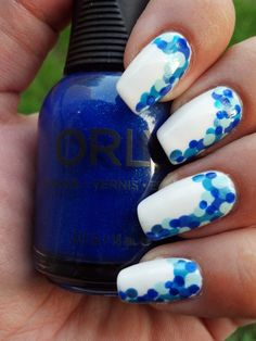 Easy Polka Dots using different sized dotting tools