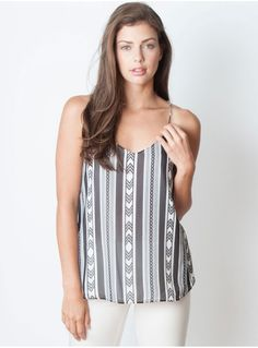 You'll be the queen of summer in this rockstar-worthy patterned top. #mypinkmartini #fashion #spring