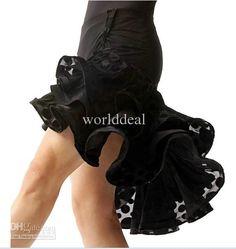Wholesale Latin salsa Chacha Ballroom Dance dress ruffle leopard skirt dress Black TL018, Free shipping, $37.06-46.02/Piece | DHgate