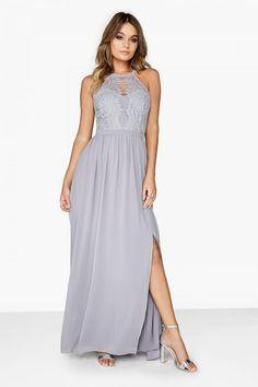 Little Mistress Grey Lace Dress