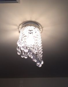 How to Fake A Chandelier & A Giveaway - The Honeycomb Home Wire Light Fixture, Light Fixtures, Light Bulb, Painted Chandelier, Diy Chandelier, Chandeliers, Bridal Shower Decorations, Lamp Shades, Garden Styles
