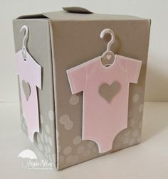 Stamp Set(s): Something for Baby, Dotty Angles Paper:Sahara Sand, Whisper White Ink:Pink Pirouette, Sahara Sand, Whisper White Craft Ink Tools: Gift Box Punch Board Punches:Bitty Accents Punch Pack Big Shot:Baby's First Framelits