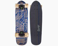 landyachtz dinghy birds deco urban cruiser  longboard skateboard