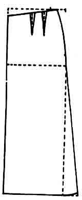 Molde falda larga