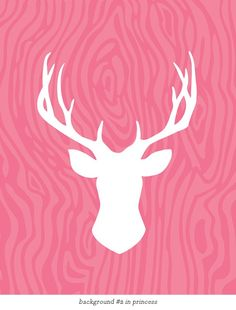 Deer head Silhouette Art Print / Choose your Color & Background / 8x10 / Wall Art Poster. $15.00, via Etsy.
