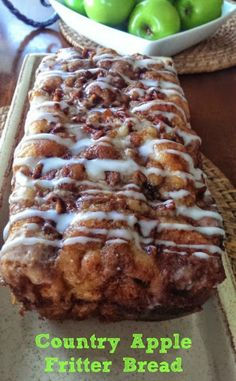 Apple Fritter Bread Recipe. You can't resit the aroma of this irresistible homemade apple bread while it is baking. Don't even try!!