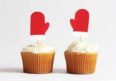 Mitten Cupcake Toppers