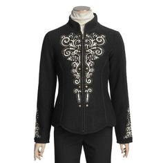 Icelandic Design Kiska Boiled Wool Jacket - Embroidered (For Women)