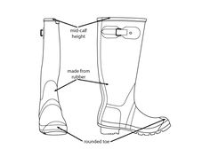 Wellington boots. Illustration by Abby Cook illustration