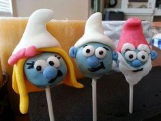 Smurf+Baby+Cake+Pops+|+Pinterest