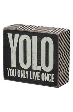Primitives by Kathy 'YOLO' Box Sign | Nordstrom
