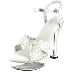 Ellie Shoes Women's C-Janie Platform Sandal, Silver, 8 M US -- This is an Amazon Associate's Pin. Click the image for detailed description on Amazon website.
