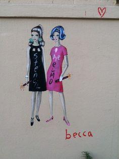 Becca street art - found in Downtown LA
