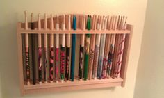 Drum Stick Display Rack Solid Cedar Wood Holds by GoldnFireGems, $39.95