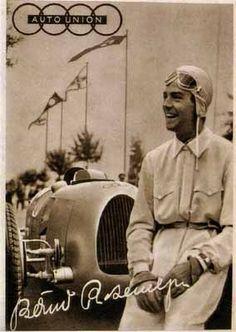 Auto Union Audi Type C, Bernd Rosemeyer 1938. From #CarPoster.com.