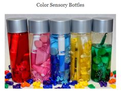 What a fun activity that can be totally limitless....Sensory bottles.... :) Click on picture to access short article by 1 - 2 - 3 Learn Curriculum on sensory bottles.