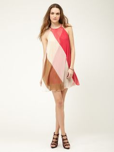 Woven Colorblock Swing Dress by Free People on Gilt