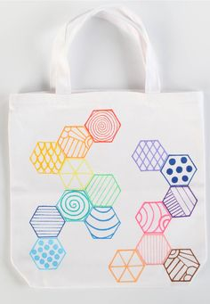 Dress up a plain tote with these great geometric patterns!