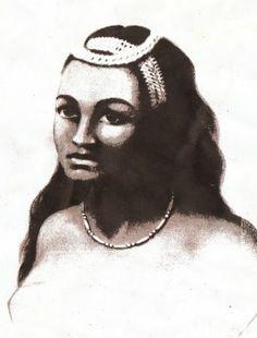 Ka'ahumanu daughter of Ke'eaumoku, King Kamehameha's favorite wife