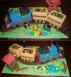 How to make a Thomas Train cake
