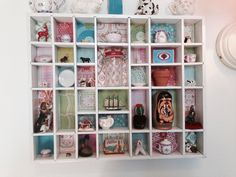 Miniature collection in painted and wallpapered printers box