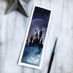 Disney watercolour bookmark