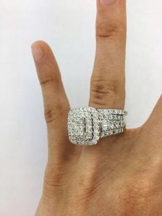 Wedding Rings Ct Diamond Wedding Bridal Set White Gold Over Round Cut Engagement Ring - Wedding Rings Simple, Custom Wedding Rings, Beautiful Wedding Rings, Wedding Rings Rose Gold, Bridal Rings, Wedding White, Gold Ring, Elegant Wedding, Wedding Bands