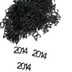 2014 Confetti - New Years Eve Party - Graduation Party - Baby Shower - Wedding Decor - 100 Pieces - $4.00