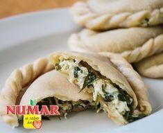 Empanaditas de queso y espinaca | Numar