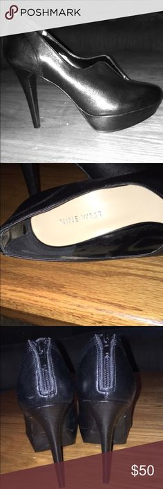 Nine West ankle booties Beautiful ankle booties never been worn. Given as a gift but they are too small. Comes with original box Nine West Shoes Ankle Boots & Booties