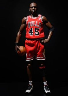 8fbace3afa4299 Enterbay Michael Jordan NBA Chicago Bulls Official 1 6 Toy Figure Away  Jersey