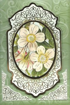 """3D floral easel card """"Thinking of You"""""""
