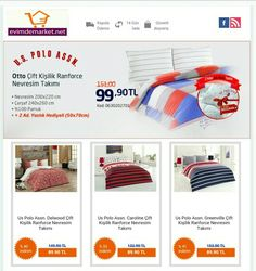 U.S Polo nevresim takımı indirimli fiyatlarla evimdemarket.net'te