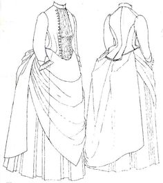 Victorian dress pattern The pattern for this is on the Macmillan Patterns of Fas. Victorian dress pattern The pattern for this is on the Macmillan Patterns of Fashion by Janet Arnold and from the V Victorian Costume, Victorian Steampunk, Steampunk Costume, Victorian Fashion, Vintage Fashion, Victorian Era, Patterns Of Fashion, Clothing Patterns, Historical Costume