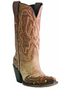 Lucchese Women's Camel Tumbled Aspen Cowgirl Boot  #cowgirlboots