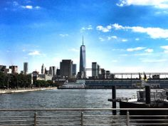 New York City Downtown from Hudson River Park.