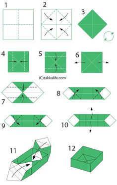 origami tattoo origami design origami step by step Origami Ball, Diy Origami Box, Origami Box With Lid, Basic Origami, Origami Box Tutorial, Paper Crafts Origami, Useful Origami, Paper Crafting, Origami Ideas