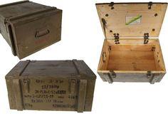 Transportkiste Holzkiste 62 x 42 oliv gebraucht Werkzeugkiste Truhe Box