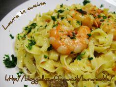 Tagliolini mare e monti – Laura in cucina Italian Fish Recipes, Seafood Pasta Recipes, Cooking Recipes, Healthy Recipes, Italian Pasta, Recipes From Heaven, Pasta Dishes, Food Hacks, Gnocchi